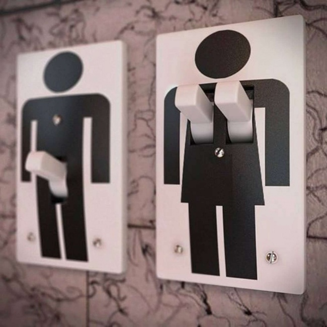 10 bathroom signs that perfectly explain the difference between man