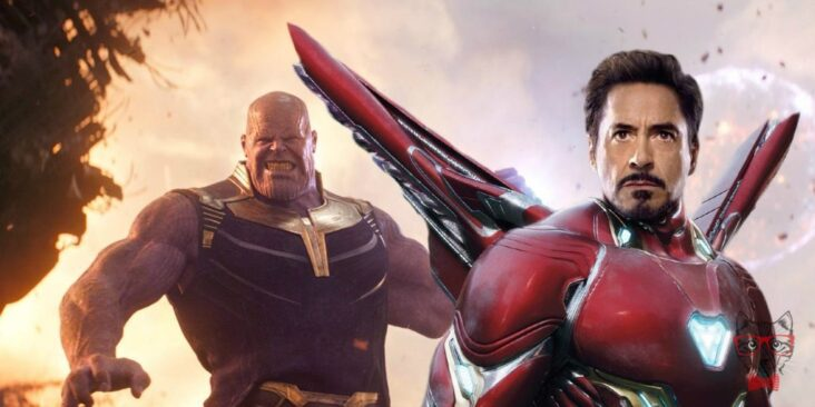 Avengers Infinity War Thanos Iron Man Fight