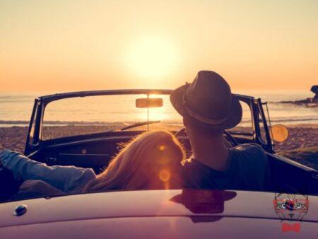Travel On Road Sunset