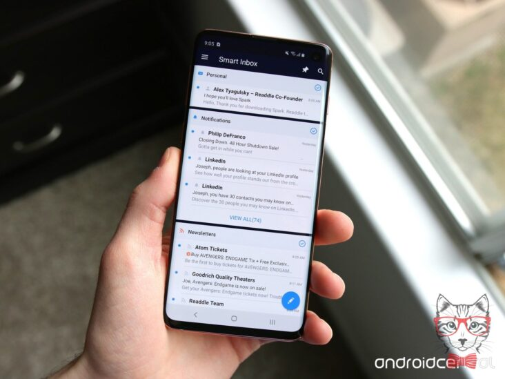 Spark Email Hero Galaxy S10