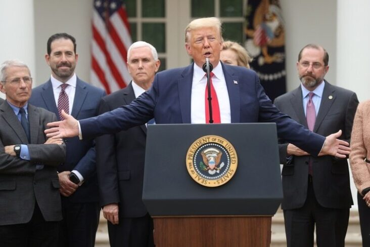 President Donald Trump Gave A Press Conference This March 13 To Announce The Declaration Of A National Emergency In The Usa For The Coronavirus