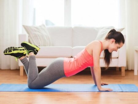 Push Up With Knees Supported