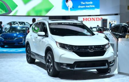 The 2018 Honda Cr-V Is One Of The Largest Cars Of Its Firm. / Photo: Courtesy Of Frederic J. Brown - Afp For Getty Images.