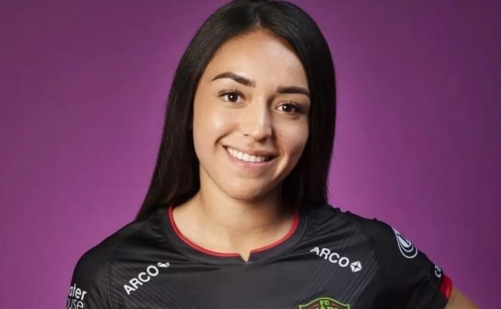 Daniela Reza In Her Fc Juarez Uniform