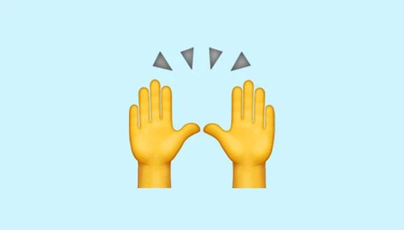 Know The True Meaning Of The Emoji Of The Hands Raised In Whatsapp.