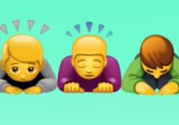 Learn what the emoji of the person touching the right ear really means (Photo: Mag / Composition)