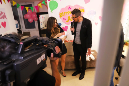 Pampita Took Her Daughter To The Dressing Rooms Of Showmatch