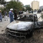 Taliban Investigate The Car From Which The Attack Was Launched Afp