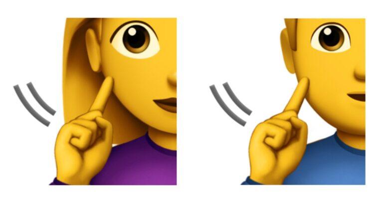 Apple Deaf Sign Emoji Emojipedia