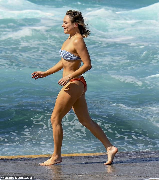 Bikini Babe Former Hi 5 Star Casey Burgess Showed Off Her Sensational Figure In A Cheeky Bikini