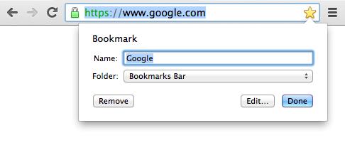 Google Chrome Bookmark