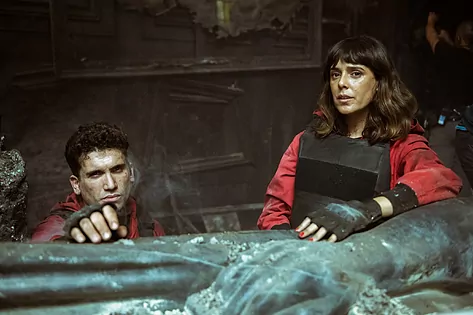 Jaime Lorente And Belen Cuesta.