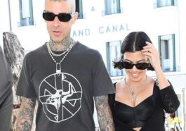 Kourtney Kardashian And Travis Barker Pose In Bed With Matching Face Masks