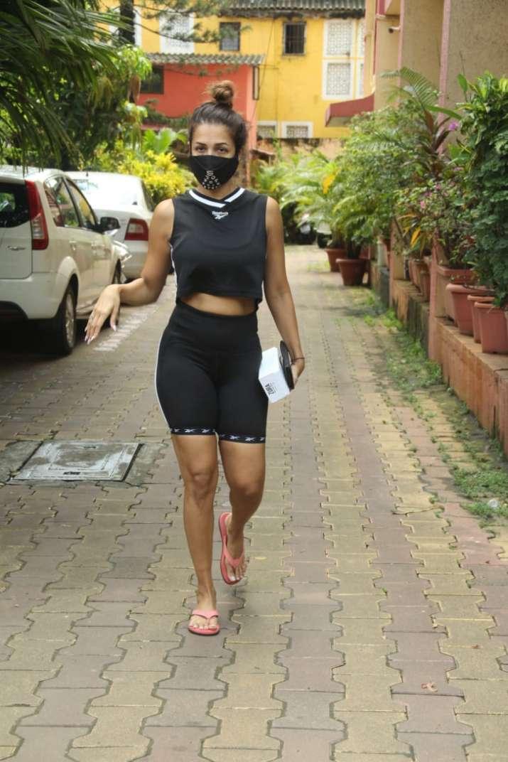 Malaika Arora Spotted Outside Her Yoga Class