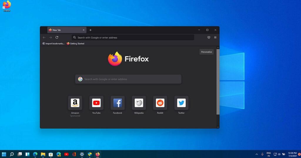 Mozilla Firefox 11 Windows