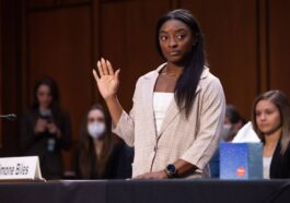 Us Olympic Gymnast Simone Biles Was Sworn In To Testify During A Senate Court Hearing On The Inspector General'S Report On The Fbi'S Handling Of Larry Nassar'S Investigation Of Sexual Abuse Of Olympic Gymnasts, On Capitol Hill In Washington, Dc, Usa. Usa, September 15, 2021. (United States) Efe / Epa / Saul Loeb Photo: Efe