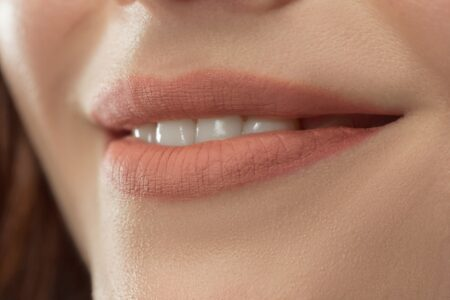 Perfect Lips Sexy Girl Mouth Close Up Beauty Young Woman Smile Natural Plump Full Lip Lips Augmentation
