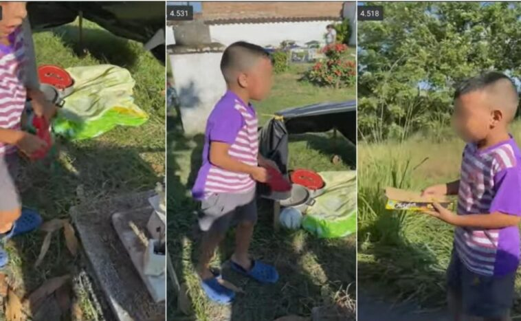 Viral Video Of A Boy Living In A Cemetery