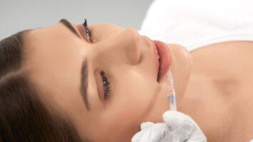 Young Woman Doing Lip Augmentation Salon