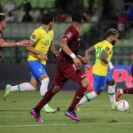 Gabigol 2 D Of Brazil Takes The Ball Against Venezuela Today During A Match For The South American Qualifiers For The Qatar 2022 World Cup At The Olympic Stadium Of The Ucv In Caracas