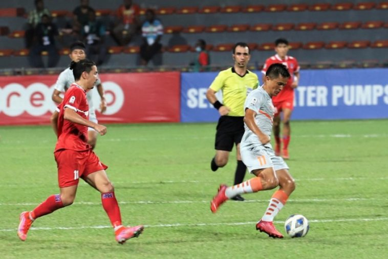 With The Ball, Sunil Chhetri Once Again Proved To Be India'S Salvation. In The Saff Championship 2021 Match Between Nepal And India, He Scored The Only Goal.
